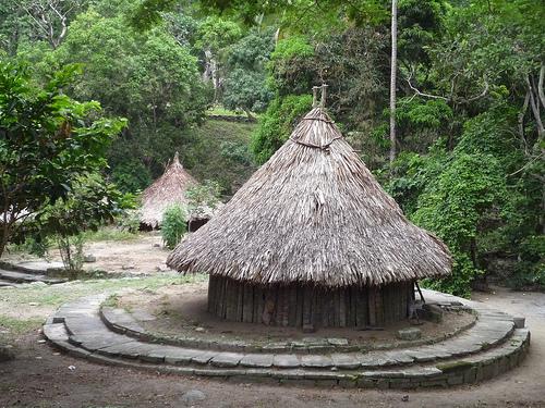 Huts in El Pueblito