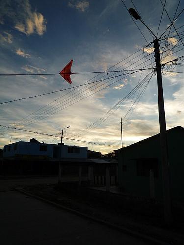 Pitalito neighborhood at sunset