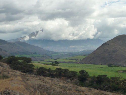 Clouded Cotacachi Volcanoe, outside Ibarra