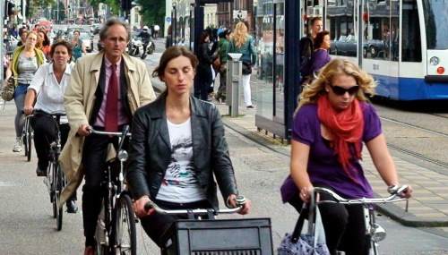 Bike Commuting in Amsterdam