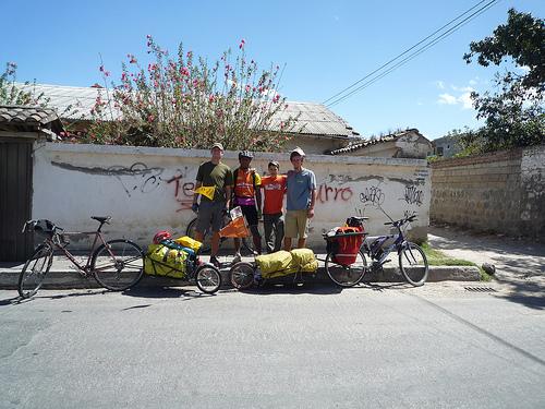 Leaving Tumbaco: Me, Luchito, Juan Man & Max